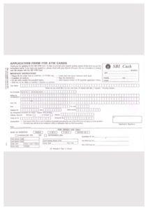 SBI ATM Card Application Form