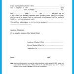 Medical Fitness Certificate PDF Form / Format Download dgms.gov.in